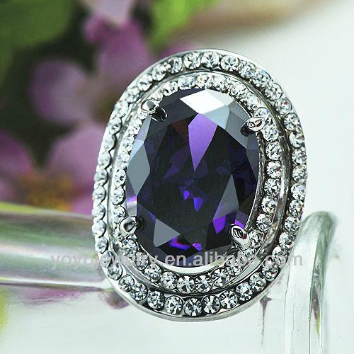 Beautiful metal big stone gold for girls engagement ring design