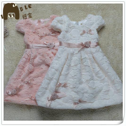 c66c8575689 Petite Fille Adaptable Laine Tissu Belle Enfants Filles Hiver Robes ...