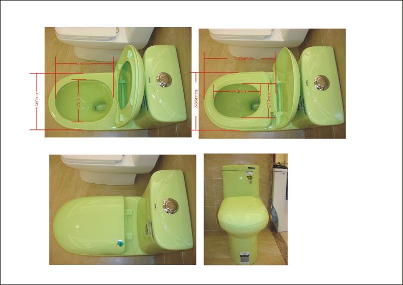 Ya 915 color verde cer mica ba os sanitarios buy product - Sanitarios de colores ...