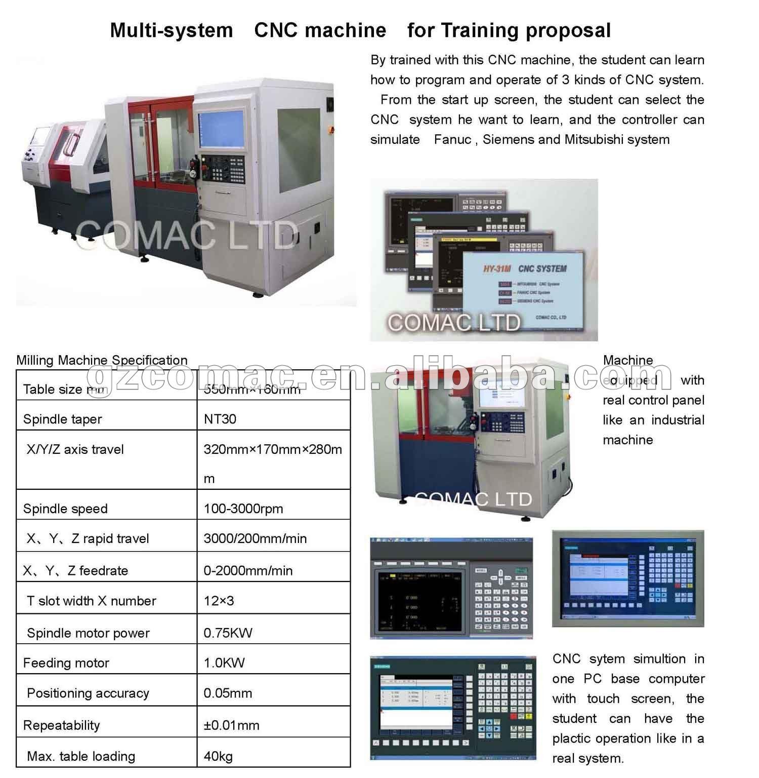 Cnc Multi-system Machine For Training - Buy Cnc Training,Cnc Training  Machine,Multi System Product on Alibaba com