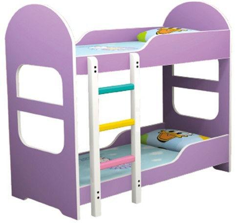 Lovely purple cartoon kids bunk bed children bunk bed qx - Como hacer una litera ...