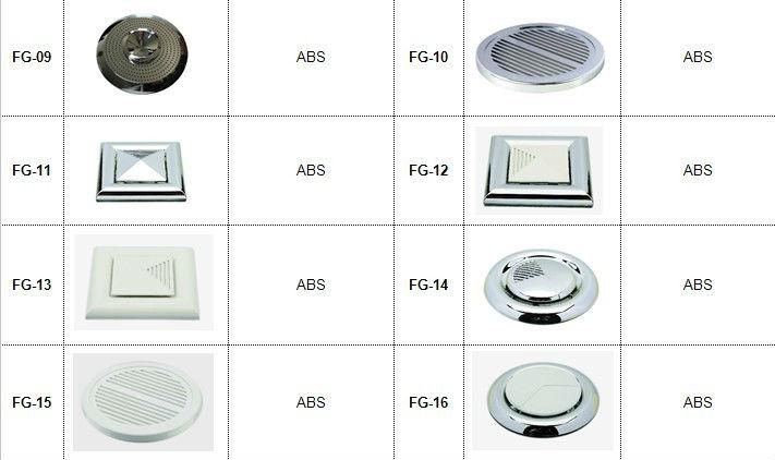 ABS Fan Cover Accessories Shower Room Exhaust Fan Guard