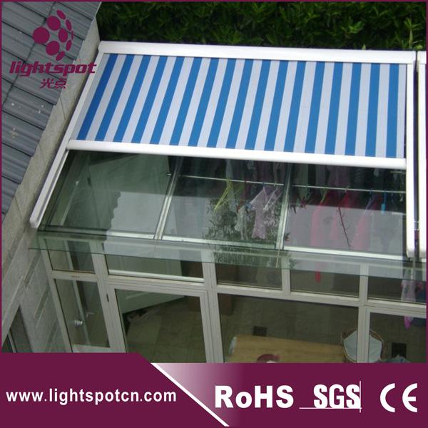 Retractable Glass Roof Garage Awning Aluminum Pergola