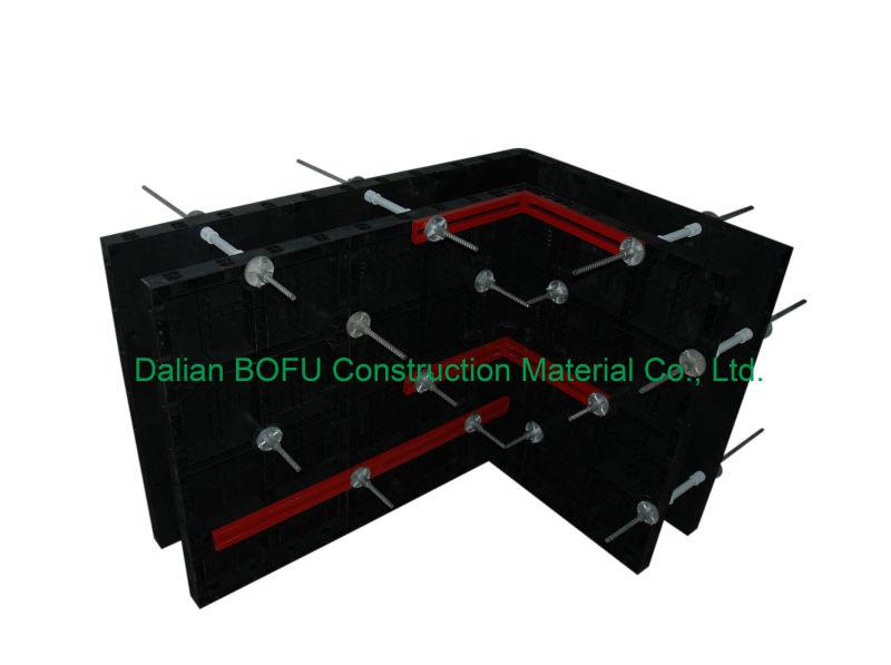 Pl stico chino modular sistema de encofrado para columna y - Material de encofrado ...