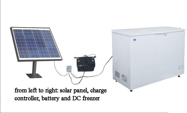 335L ultra energy efficient solar deep freezer with 110mm