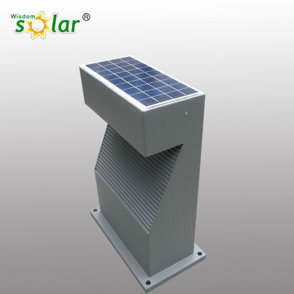2016 hot sale solar pillar lights wisdomsolar factory for