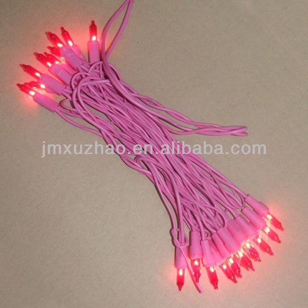 20l Ul 120v Pink Wire Incandescent Mini Christmas Light Bulbs
