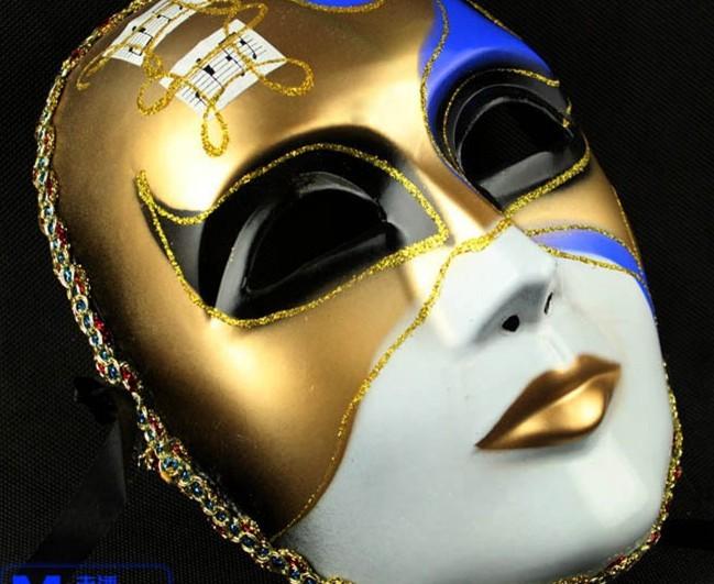 Imagen de una mascara de yeso pintada - Imagui