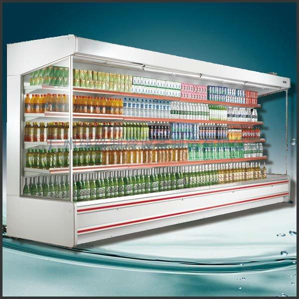 Supermarket Open Refrigerator Display Beverage,Milk,Fruit ...