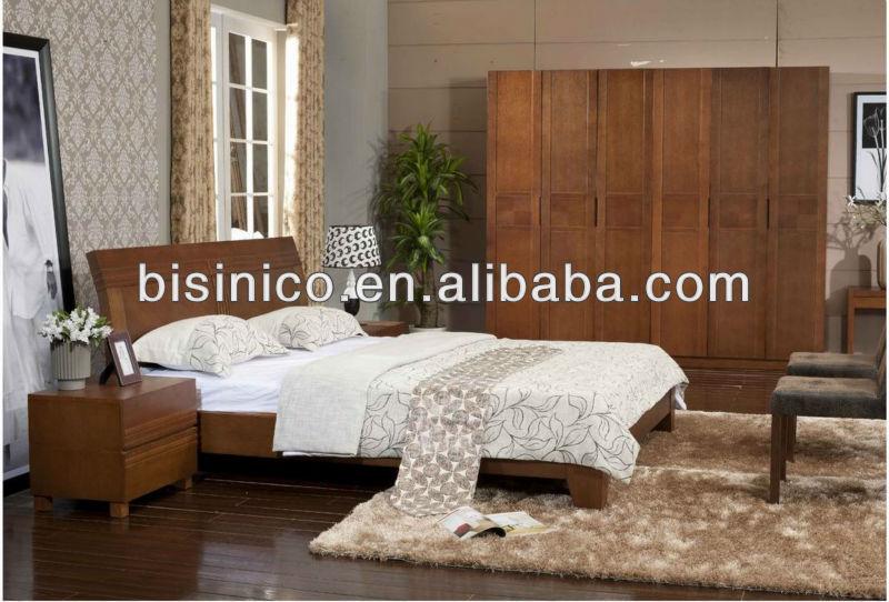 Camera Da Letto Legno Naturale : Semplice letto con struttura in legno massello sud est asiatico