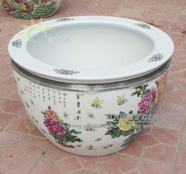 Wholesale Large Chinese Famille Rose Ceramic Plant Pots