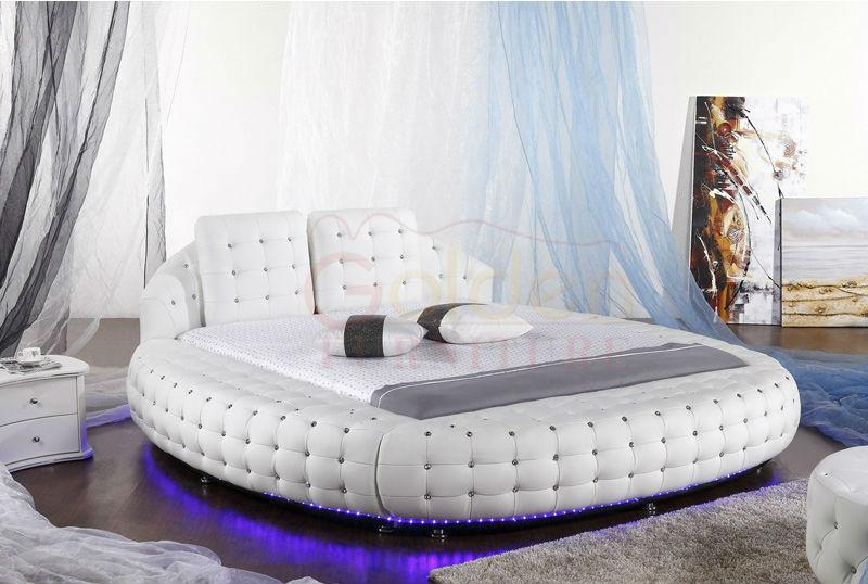 New B6821 Foshan Furniture Market Round Platform Bed