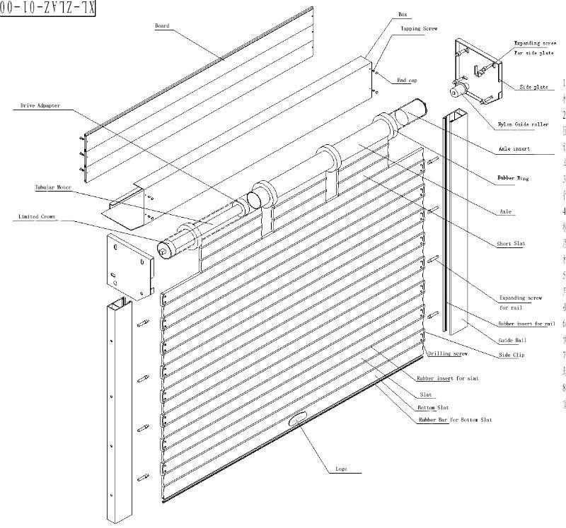 Aluminum Roller Shutter Window Door With Motor Buy