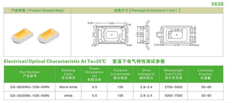 5050 6 Pin Smd Led (epistar Chips Inside) - Buy 5050 6 Pin Smd Led,6