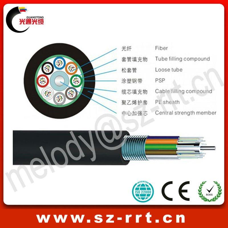 Outdoor Underground 48 24 12 Core Fiber Optic Cable Drum