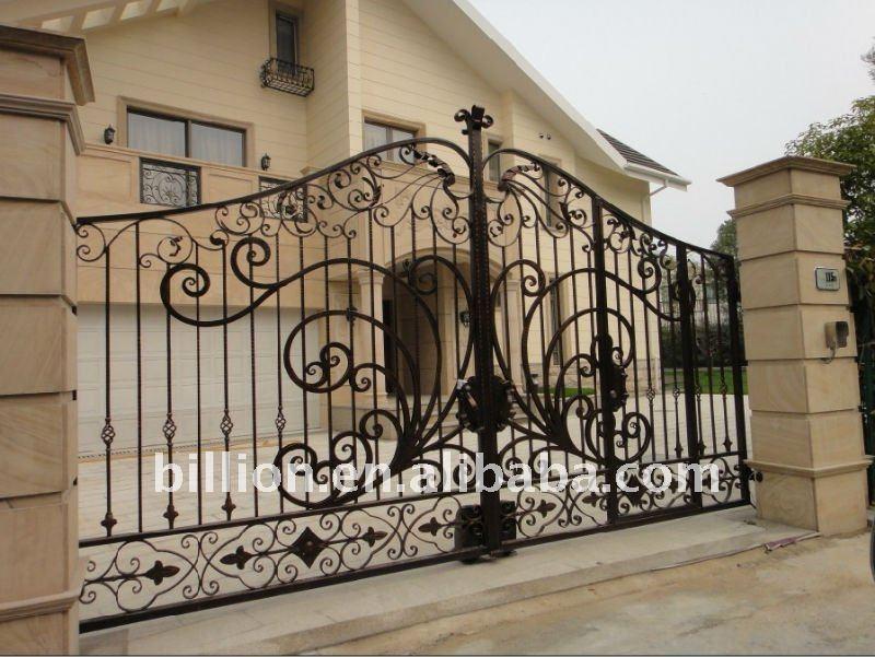 Powder Coated Cheap Price Main House Iron Gate Design