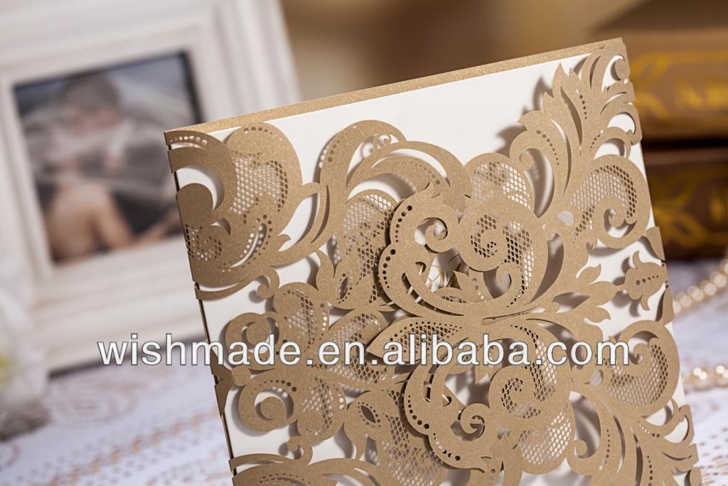 2017 Luxury Indian Wedding Cards Laser Cut CW3109