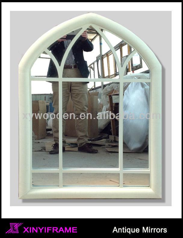 popular irregular bathroom mirror antique wood mirror window frame mirror for european design - Mirror Window Frame