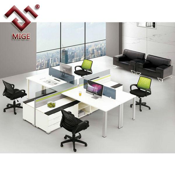 U Shape Wood Office Desk Partition