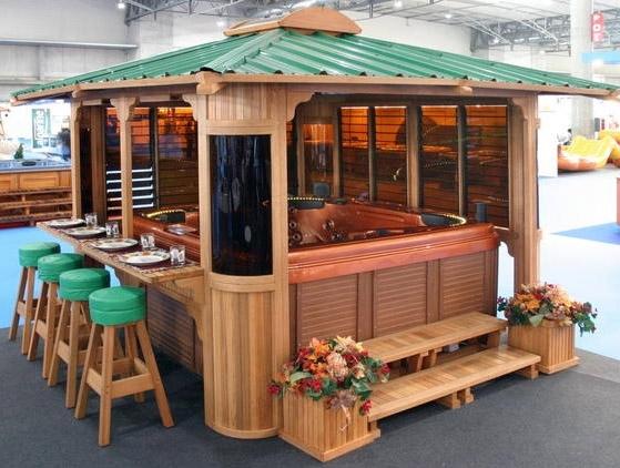 The Seaside Bar Wooden Spa Gazebo Kits