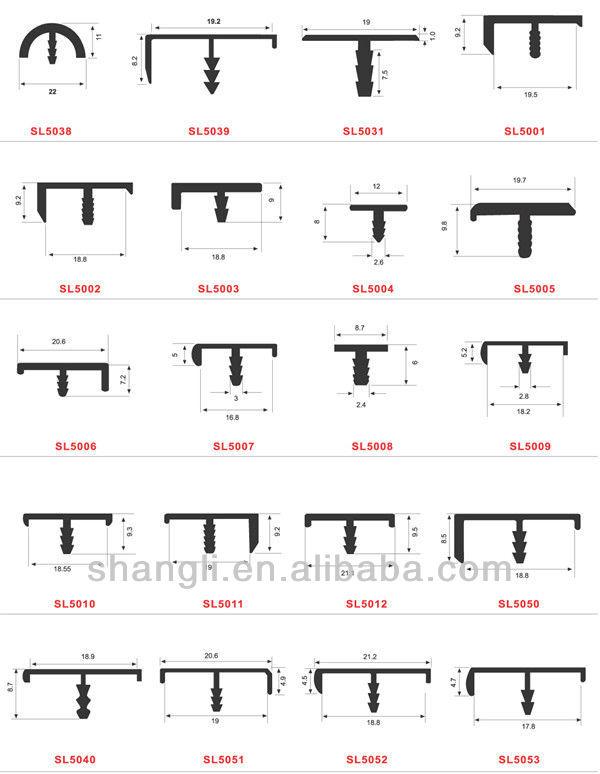 Aluminum Edge Profile T Profile For Kitchen Cabinet Door