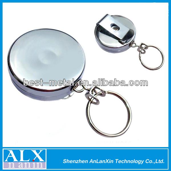 e2bcac693d Color argento metallizzato bobina retrattile con clip da cintura, passante per  cintura clasp& portachiavi per