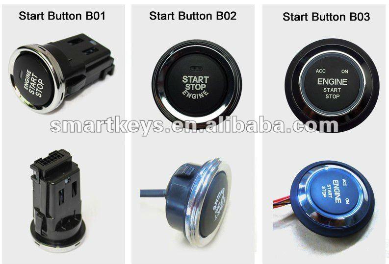 Can bus alarm remote engine start smart key pke rfid for
