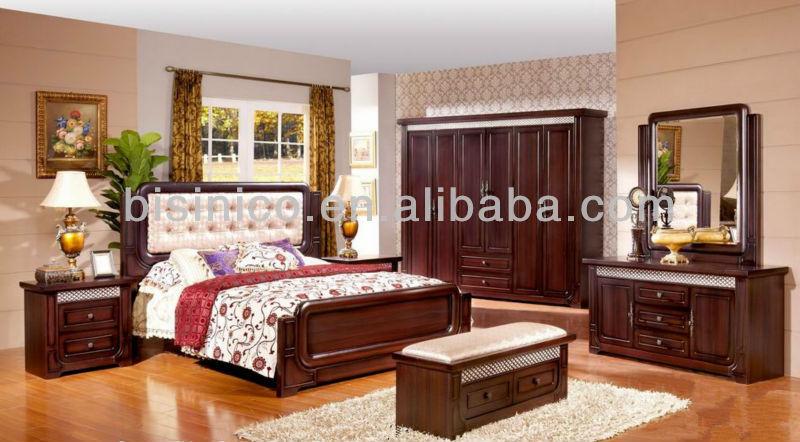Morden Wood Beds Bedroom Furniture,Full Set Of Solid Wood