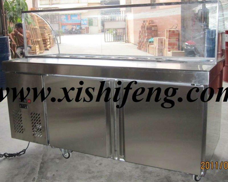 Xsflg Salad Refrigerated Counter / Table Top Salad Bar ...
