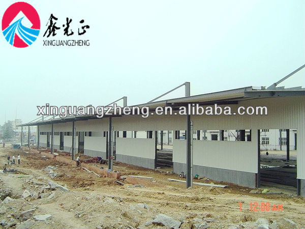 low cost steel structure and sandwich panel application factory workshop building