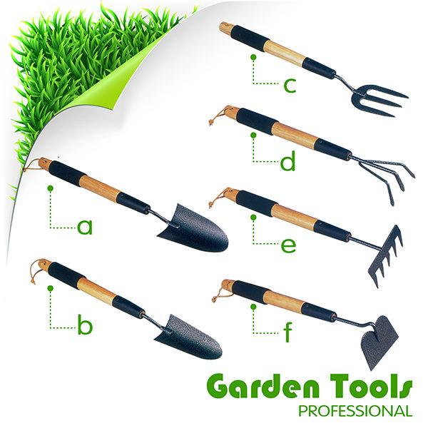 gardening hand tools names. 6pcs garden hand tools set with wooden handle gardening names h