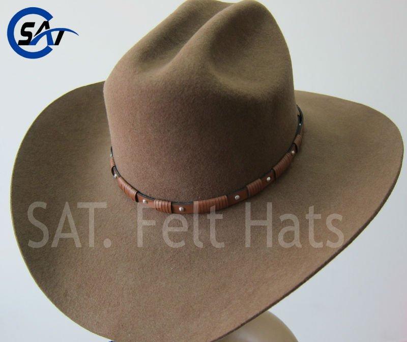 100% Wool Felt Cattleman Crease Drinking Cowboy Hat - Buy ... eb6410fead8