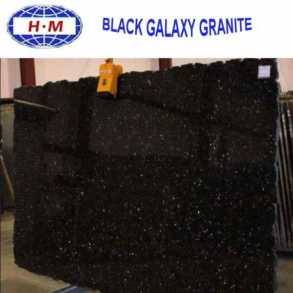 Indian black galaxy granite price black galaxy granite for Tipos de granito negro