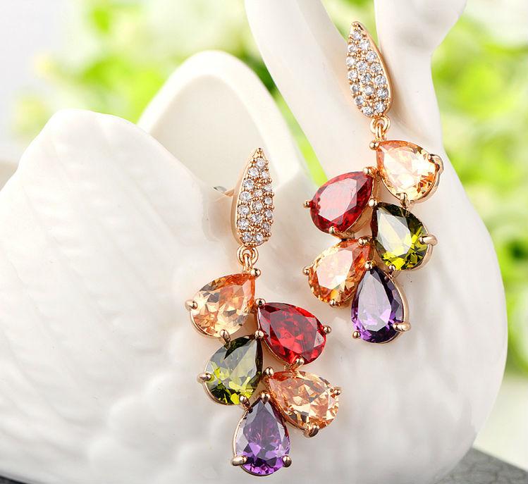 Luoteemi Jewelry Wholesale Hot Popular Multi Color Aaa Zircon ...