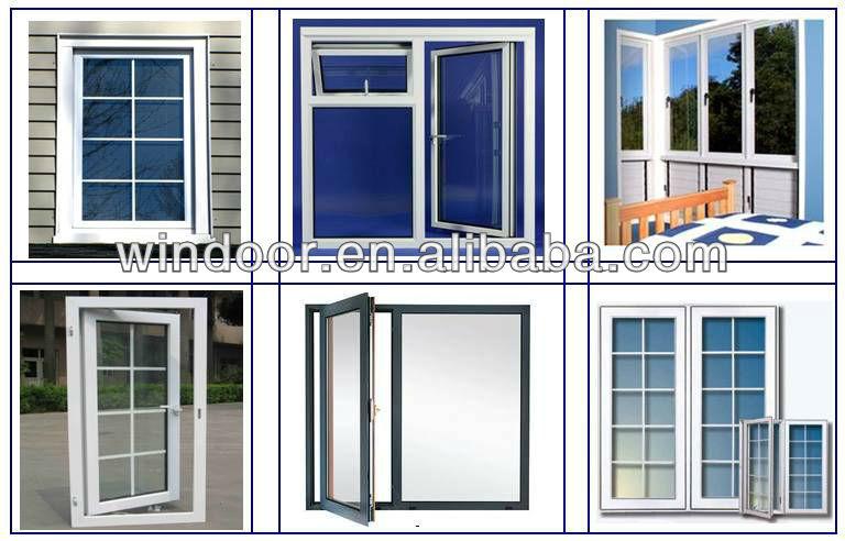 Aluminio doble ventana abatible de vidrio utilizado para for Ventanas de pvc doble vidrio argentina