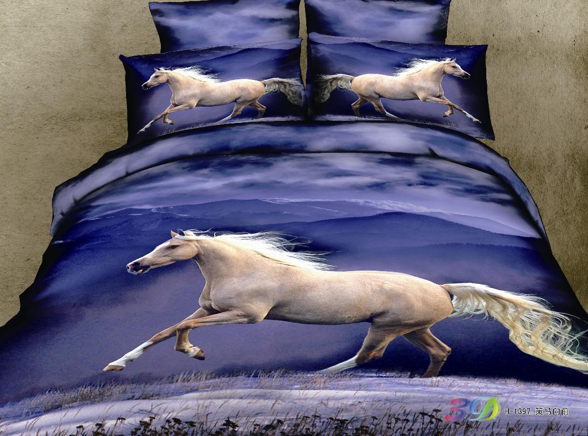 New Horse Duvet Set Single Double S King Cover 100 Cotton