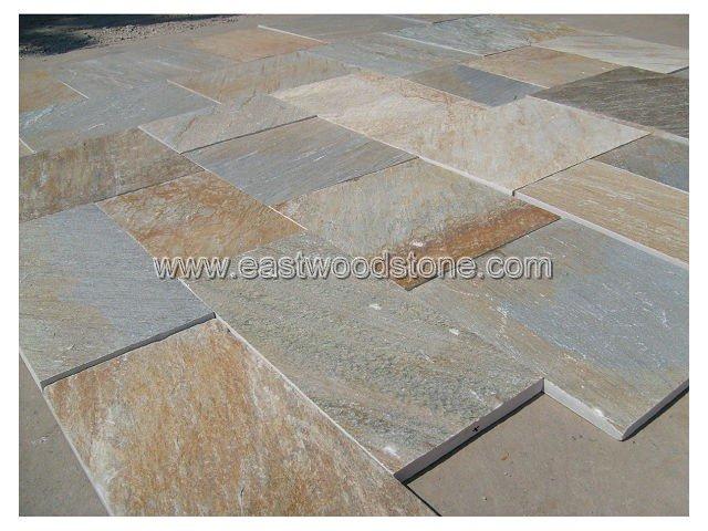 Grigio scuro piastrelle del pavimento in ardesia per esterni e