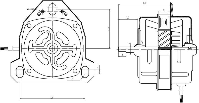 single phase ac electric 220v motor