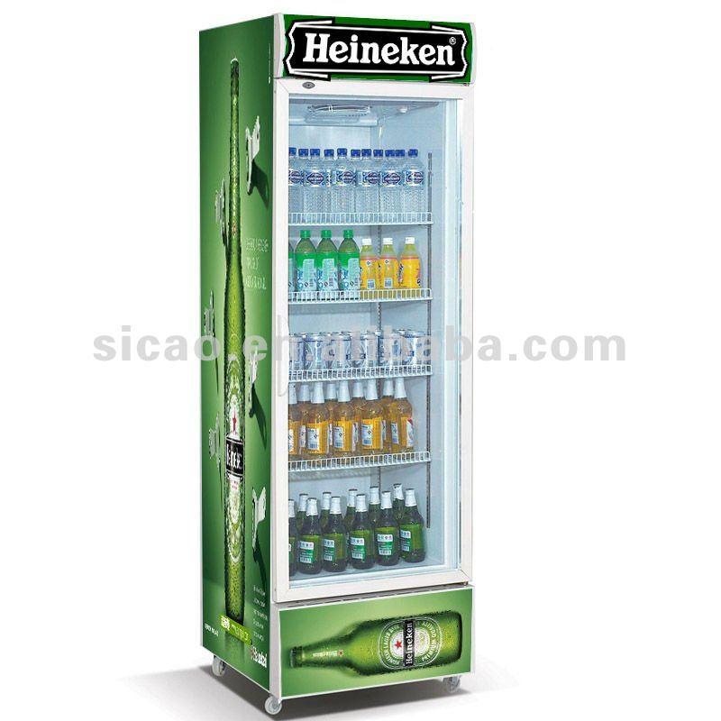 360l Display Refrigerator Glass Door Energy Drink