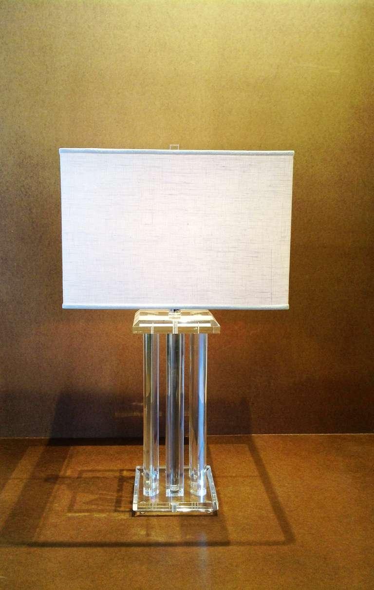 Crystal base table lamps - Crystal Acrylic Table Lamp Base