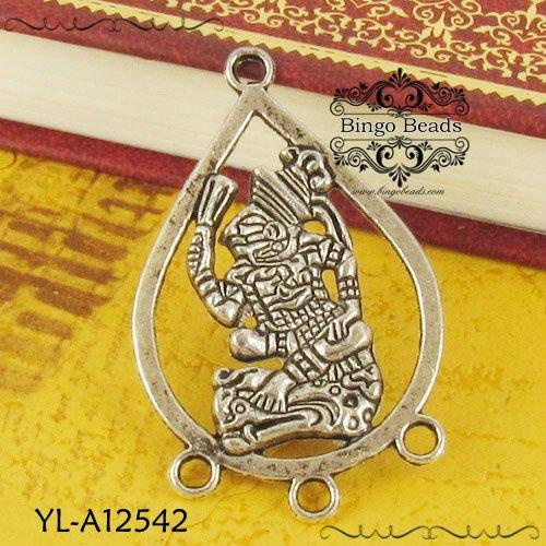 Mayan Mythical Bird Spirit Amulet Chandelier Earring
