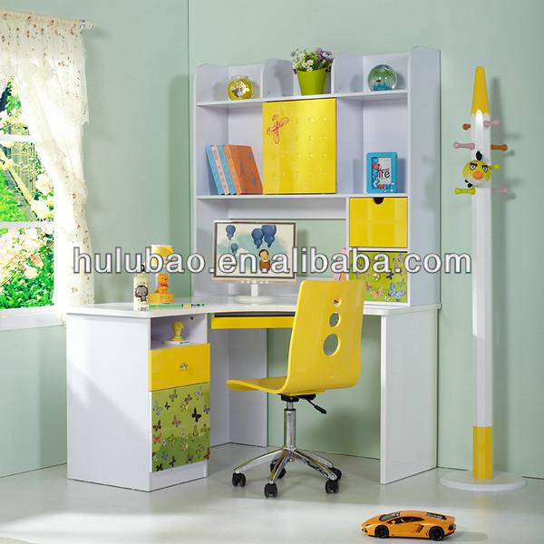 905 Children Kids Modern Study Desk With Cabinet Shelf