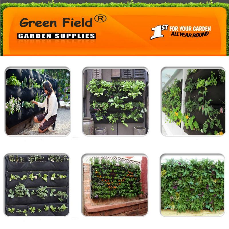 Green Field Felt Wall Pockets Vertical Garden Kit