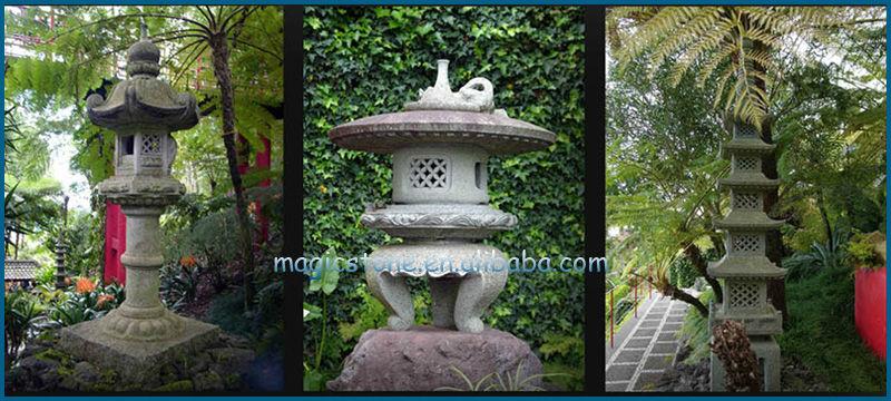 Superior Custom Japanese Garden Pagoda Stone Magic Lantern