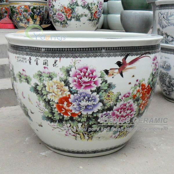 Retail Large Chinese Famille Rose Ceramic Outdoor Garden
