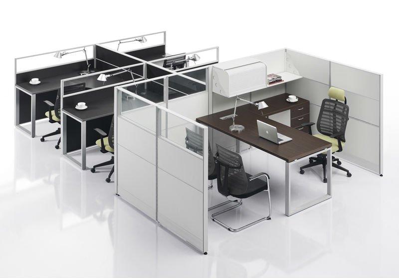 Modern Modular Workstation For 4 Staffs And 1 Manager