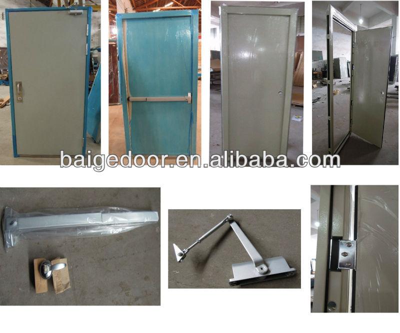 Residential Fire Doors : Bg f fire exit door push bar residential