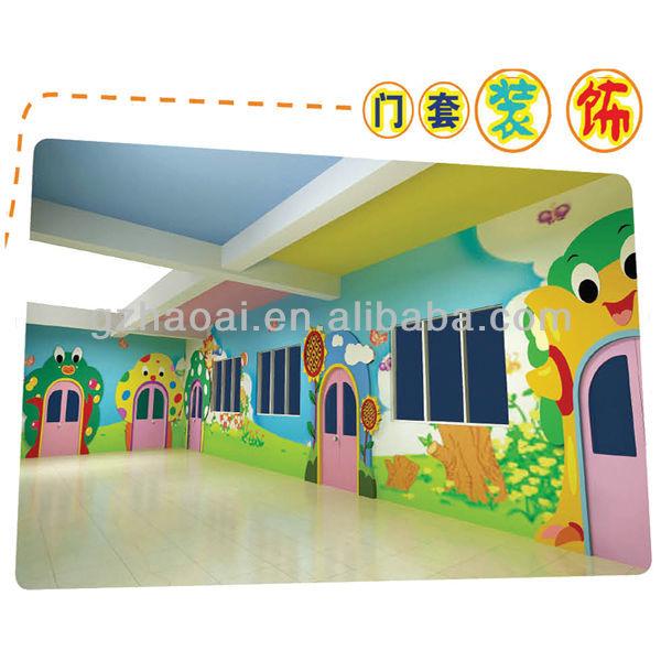 Kindergarten Classroom Wall Design ~ A new design colorful kindergarten wall