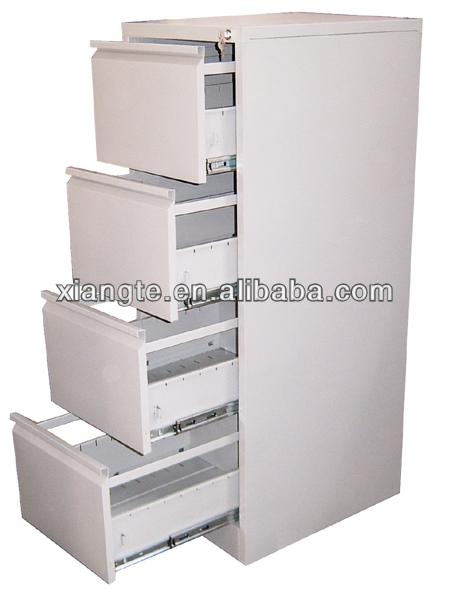 Moderno design del metallo 4 cassetti verticale in acciaio - Cassettiera schedario da ufficio ...