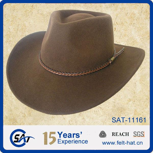 c26d3014f Venta caliente sombrero de vaquero para hombre 100% de fieltro de lana  sombrero de fieltro